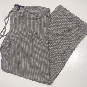 Victoria's Secret Grey Linen Striped Pants